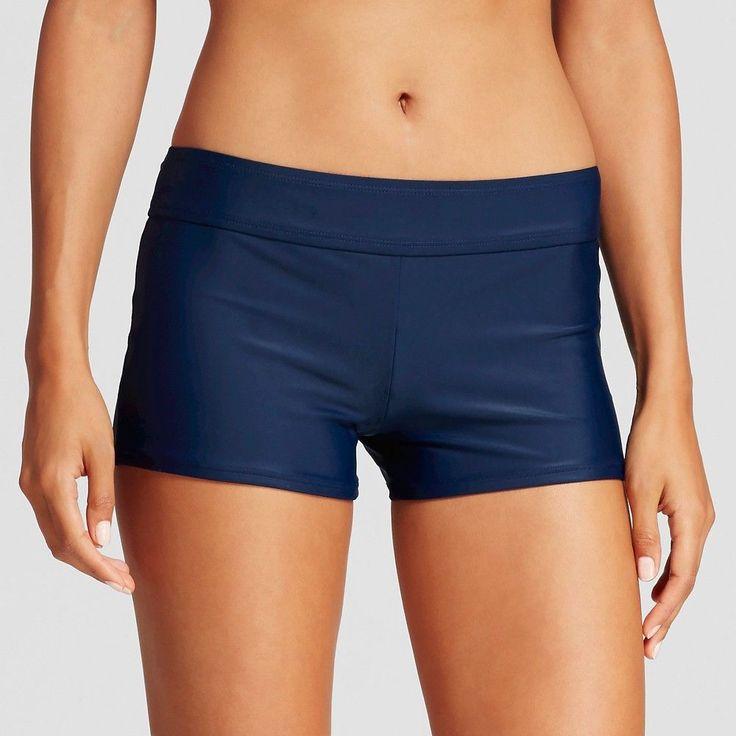 Women's Swim Boyshort - Navy Voyage - XL - Merona