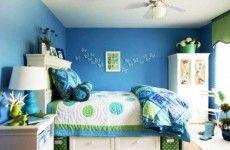 Farbgestaltung fürs Jugendzimmer blau grün schmetterlinge