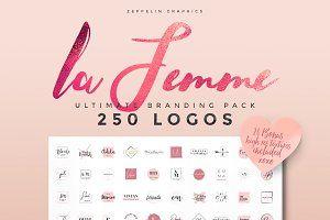 250 Feminine Logo Branding Pack