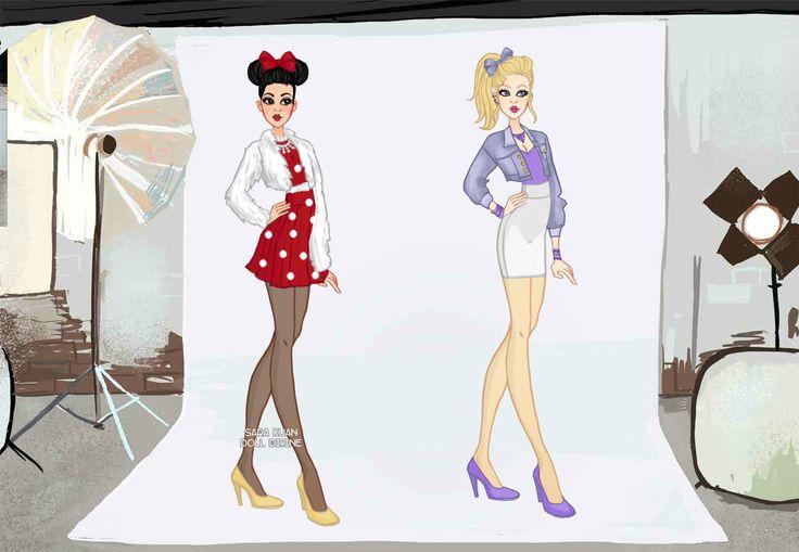 Minnie e Margarida- Personagens da Disney.