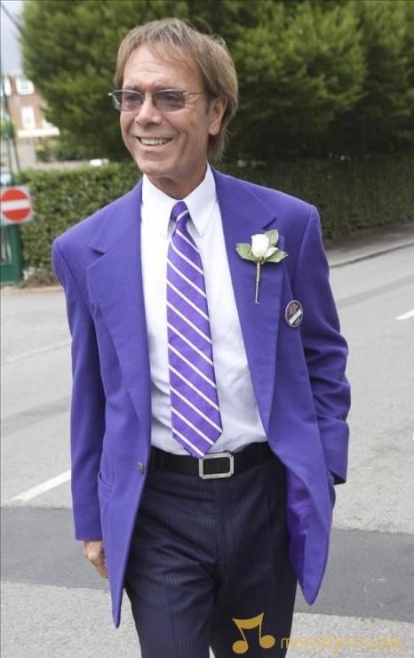 Celebrities attend the Wimbledon Semi finals ~ Cliff Richard