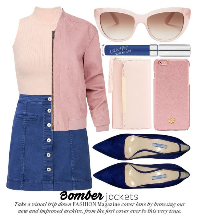 """""""BOMBER JACKETS"""" by noraaaaaaaaa ❤ liked on Polyvore featuring WearAll, Witchery, Helmut Lang, Prada, Charlotte Russe, Tory Burch and Kate Spade"""
