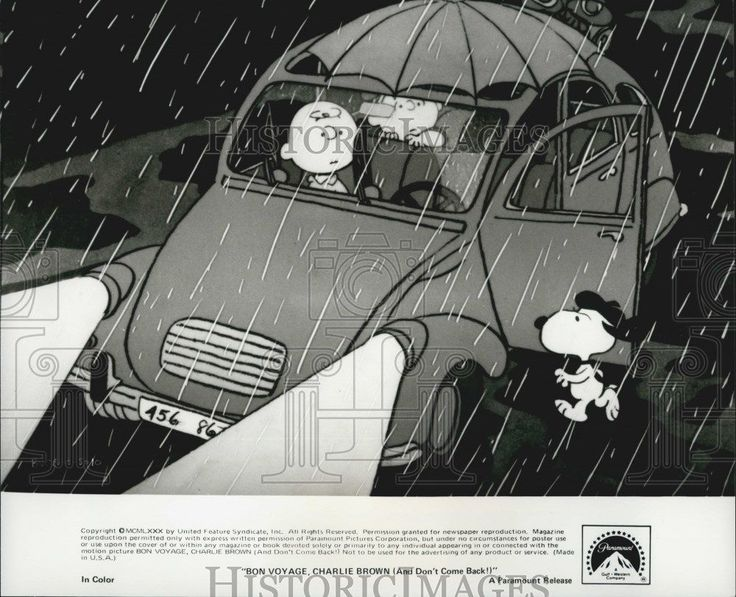 """1980 Press Photo Charlie Brown """"Bon Voyage Charlie Brown (And Don't Come Back!)"""