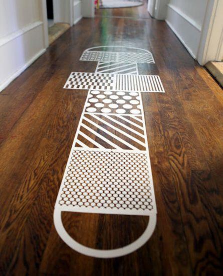 Hopscotch floor decals so little ones don 39 t slide on for Hardwood floors slippery