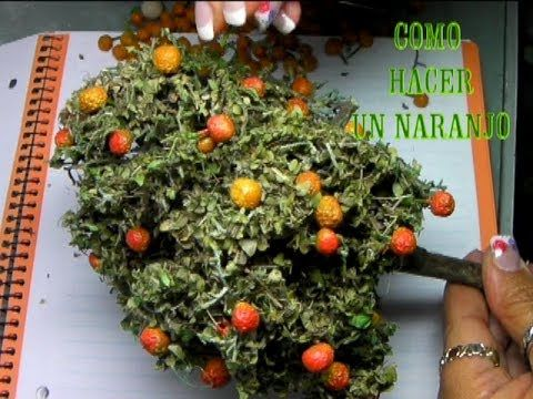 ▶ DIY COMO HACER UN NARANJO PARA EL BELÉN, PESEBRE - HOW TO MAKE AN ORANGE TREE FOR BELÉN - YouTube