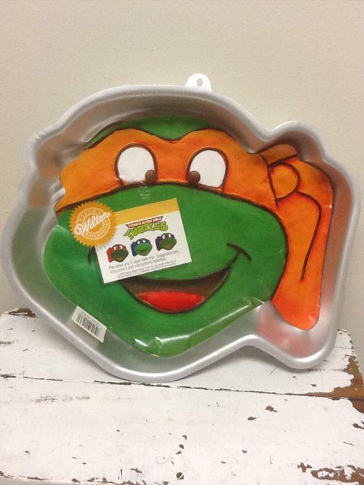 ... Mutant Ninja Turtles Cake Pan 2105 4436 Boy Birthday Tmnt 1991 Picture
