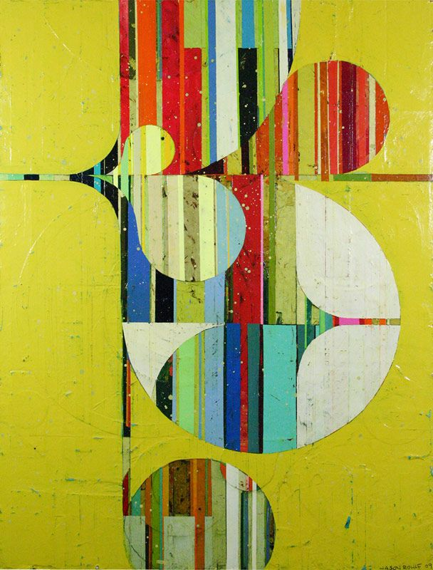"""Jason Rohlf """"Mixed Media on Board""""  Caldwell Snyder Gallery."""