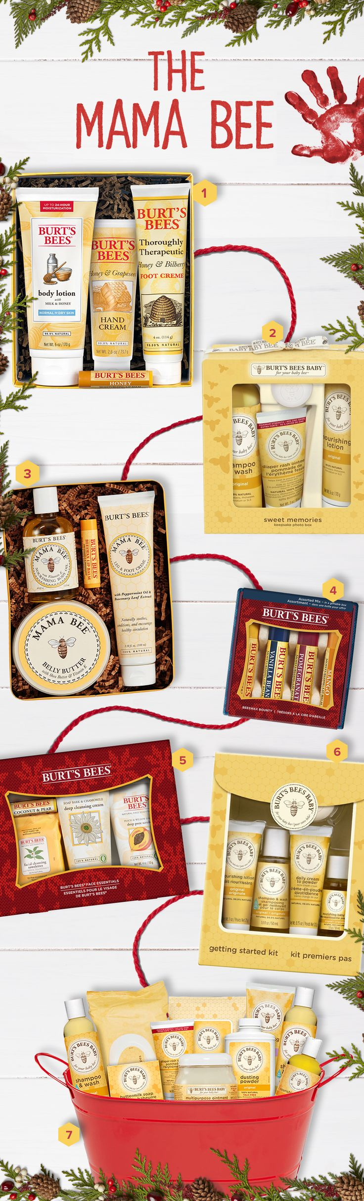 2016 Holiday Gift Guide for The Mama Bee   Give a mom in your life the gift of worry-free this season. Whether she's got a little one on the way or one who's currently drawing on the walls, The Mama Bee could always use more natural in her life. Get her the gift of worry-free with Burt's Bees products that are safe and effective for her little bee and her.