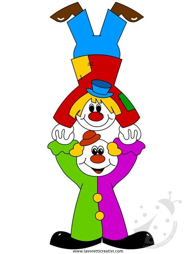 Addobbi di Carnevale per aula scuola - Pagliacci