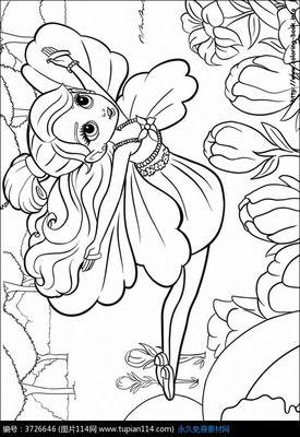 蝴蝶仙子简笔画