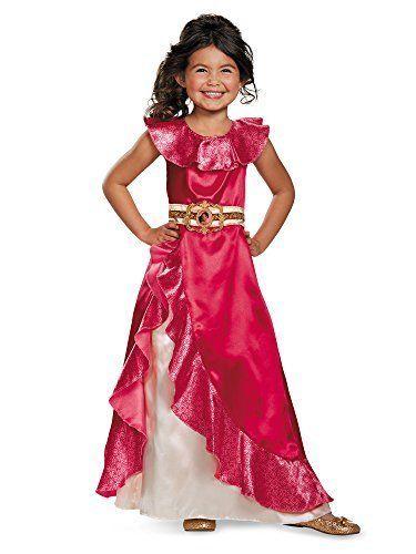 Disguise Elena Adventure Dress Classic Elena of Avalor Disney Costume, Medium/3T-4T