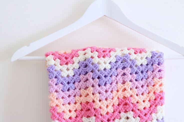 Crochet | Chevron blanket tutorial | Bella Coco