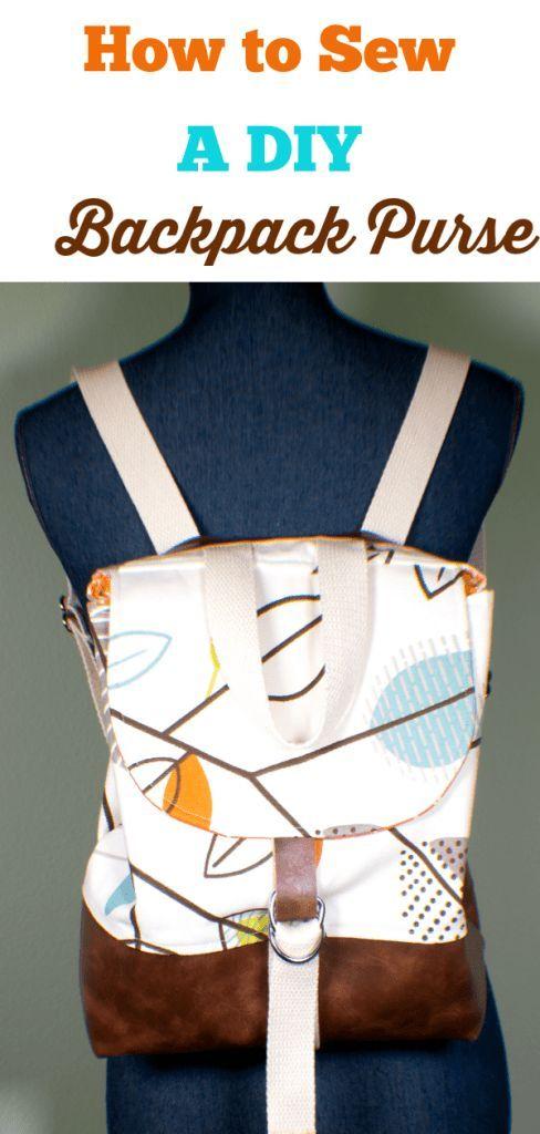 So nähen Sie einen DIY-Rucksack Geldbörse