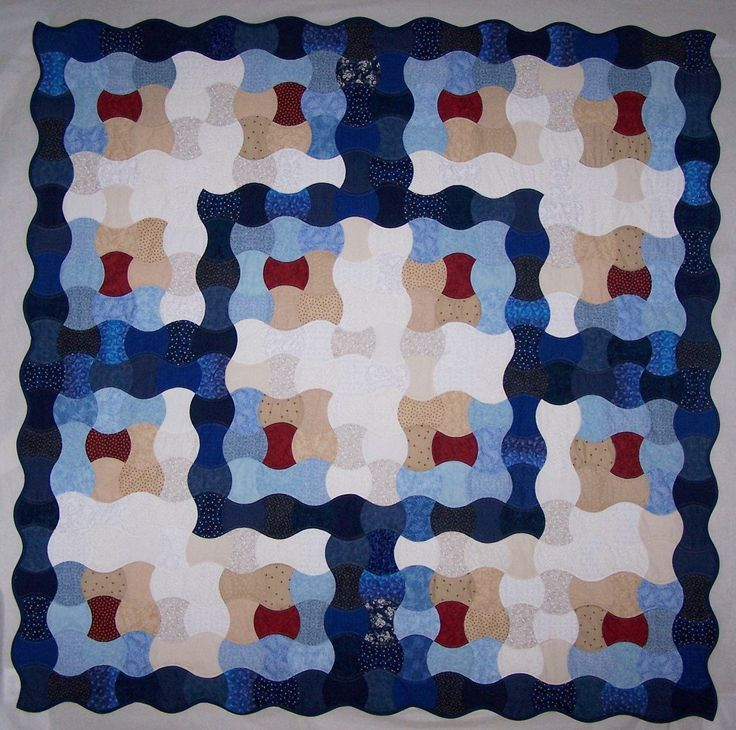 Log Cabin Applecore Quilt, Americana, Star Quilts, Queen Size Quilt, Queen Size Blanket, Comforter, Traditional Quilts by AppleCoreQuilts on Etsy
