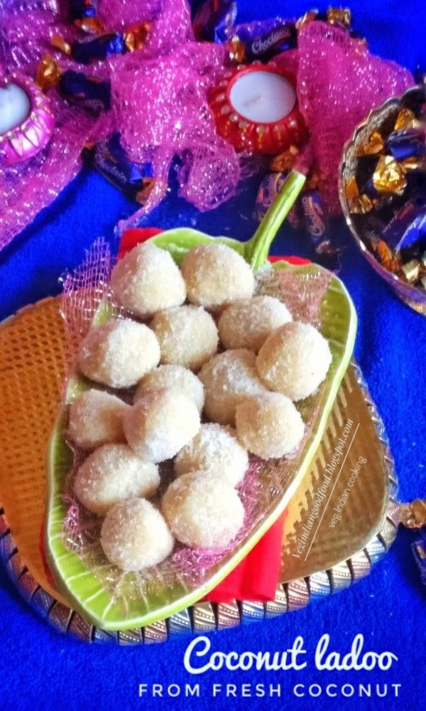 Fresh Coconut Ladoo Recipe   Sharing recipe with step by step photos..   #coconutladoo  #festival  #festivalseason  #delicious  #yummy  #easyrecipes #indiansweets #diwalicelebrations #diwali2017 #diwalisweets #Indianrecipes  #indianfood  #sweet  #dessert  #recipe  #recipeoftheday #yummilicious #sweets #festivaloflights #feedfeed #coconutsweet #coconutladoo