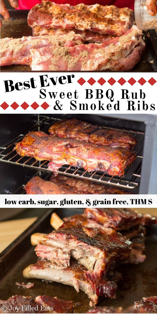 Fall off the bone, smokey, tender ribs are one of the best things ever. These Sweet BBQ Rub Smoked Ribs were so good we didn't even need barbecue sauce.  via @joyfilledeats