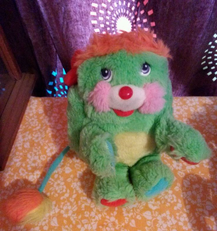 #mattel vintage plush popple 80's girl toy green putter rare stuffed animal  from $24.95