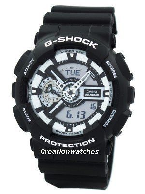 This is a new addition to the mid-priced G-Shock range. It comes in a basic black offset, decorated with white accents, resulting in a simple, forceful, monotone design. The black and white theme is undoubtedly a fashionable one and is resistant to magnetic fields besides sudden, harsh impacts and water/humidity. Functional and fashionable, it's the right accessory when it comes to pursue the tough tasks.