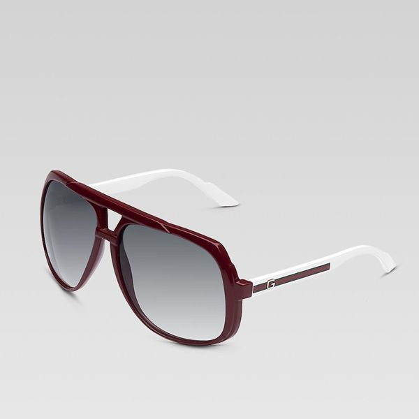 Gucci Large Aviator Sunglasses 238122 BXS