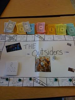 board game and the outsiders | book and found all the important places and objects to make as traps ...