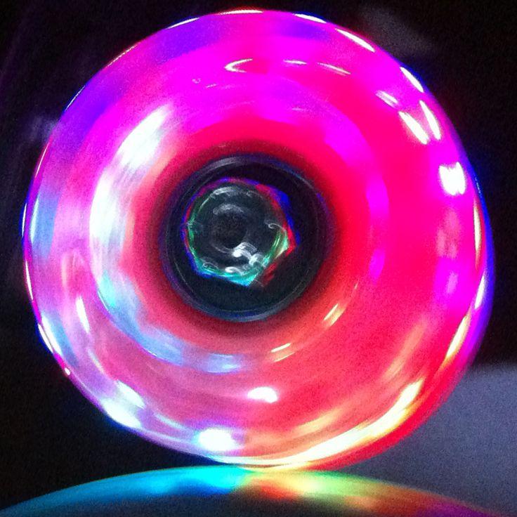 Light Up Roller Skate Wheels Red 57mm set of 4