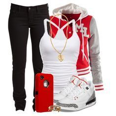 polyvore outfits for teenage girls with jordans