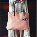 Handwoven Tote - SalmonFashion, Pom Poms, Style, Skirts, Pompom, Mary Textiles, Totes Bags, Travel Outfit, Summer Pattern
