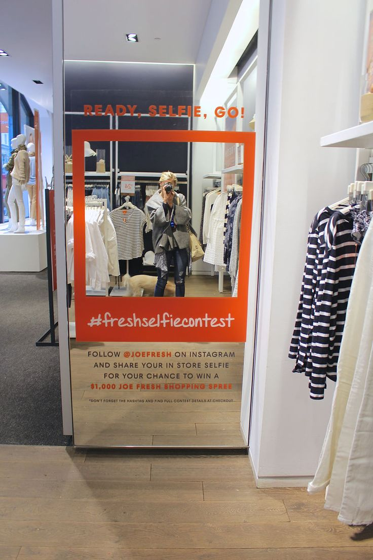 In-Store Selfie Contests - Joe Fresh Embraces Social Media to Focus on Word-of-Mouth Promotion (GALLERY)
