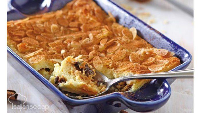 Lezat dan Mudah, Puding Roti Almond Ini Bisa Jadi Dessert Makan Malam Kamu, Gini Cara Buatnya!