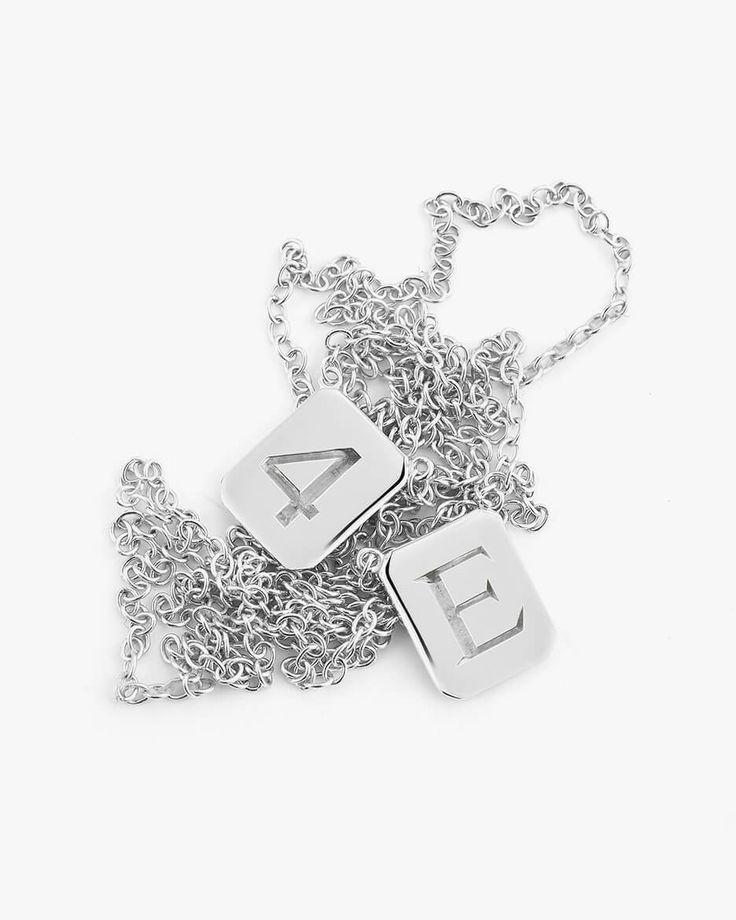 Custom Silver Tag Necklace