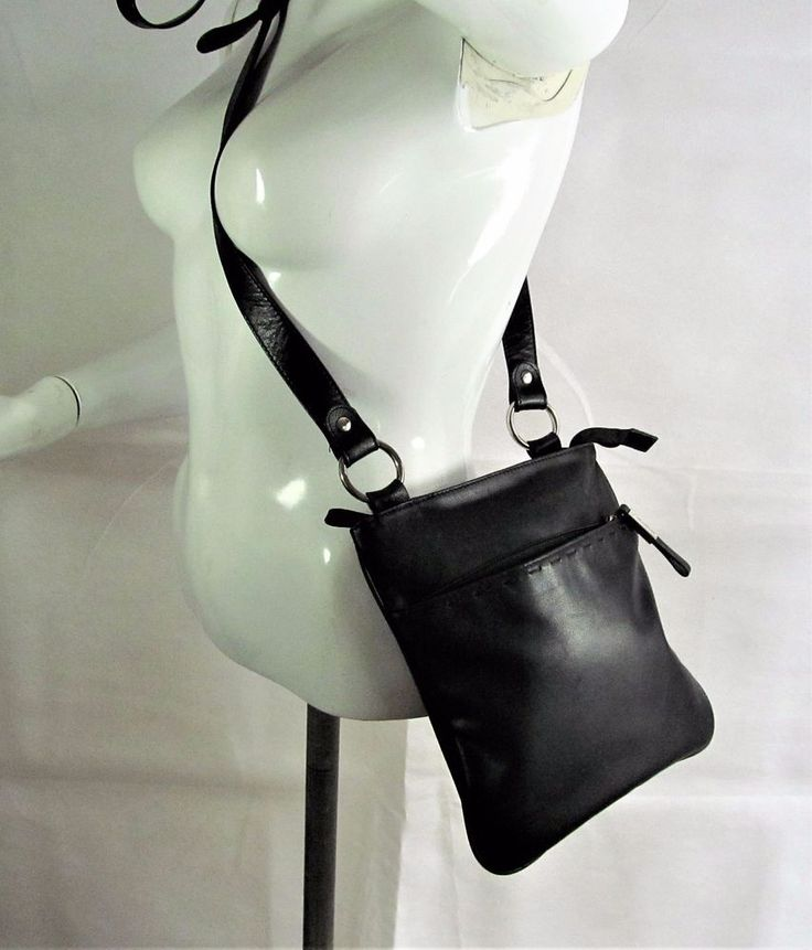 Debenhams Collection black soft leather shoulder bag handbag purse R15651 #style #fashion #love #woman #chic #eBay #handbag #sangriasuzie