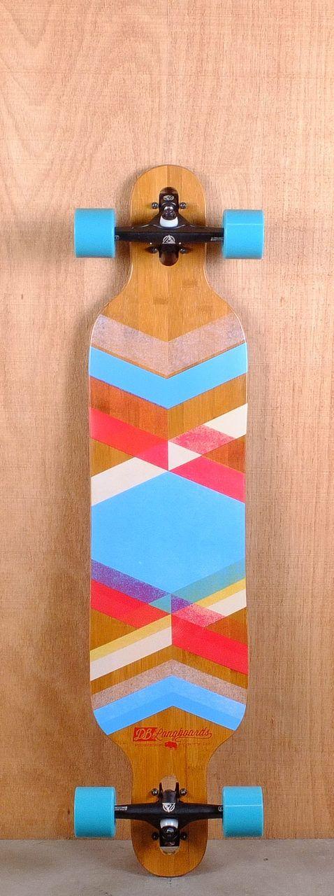 "DB Prebuilt 40"" Pioneer Bamboo Fiberglass Longboard Complete"