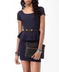 Vestido Azul F21 Talla: L $16.900