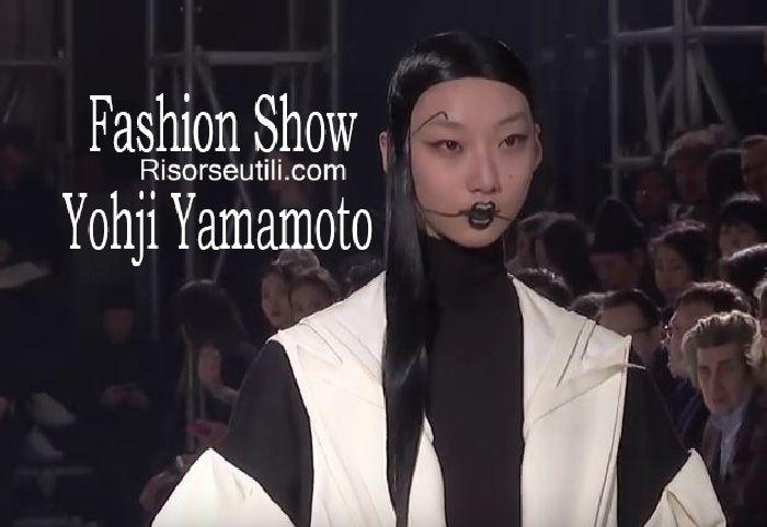 Fashion show Yohji Yamamoto fall winter 2016 2017 womenswear