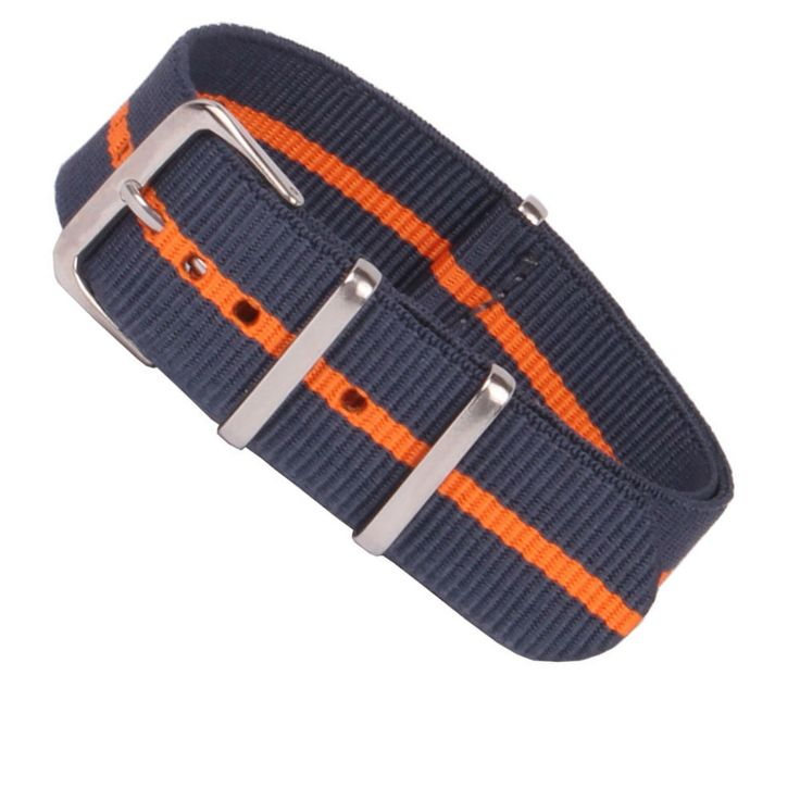 16 18 22 24 мм синий / оранжевый полосатый ленточная нато для армии спортивные часы нейлон ремешок для часов 16   24 мм купить на AliExpress