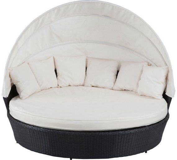 £599.99 Buy Rattan Effect Patio Day Bed with Canopy and Cushions at Argos.co