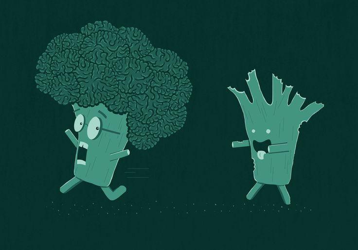 Some-broccoli's already had their brains eaten!
