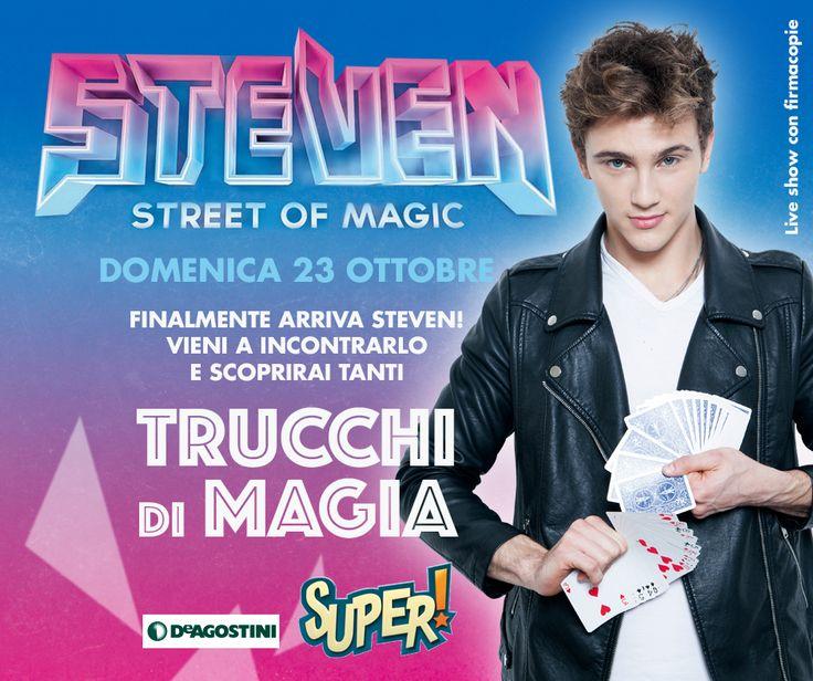 Al #cctorvergata una giornata di magia da passare insieme! Domenica 23 Ottobre alle ore 17 arriva il mago Steven per un esclusivo firmacopie e un live show da non perdere. Ti aspettiamo!
