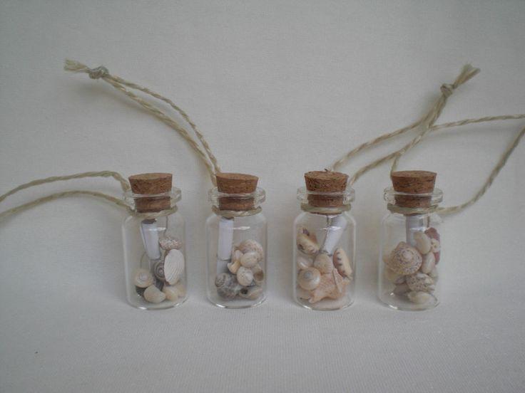 Gastgeschenke - Mini-Flaschenpost, 4 cm, individuelle Botschaften - ein Designerstück von Pfiffiges bei DaWanda
