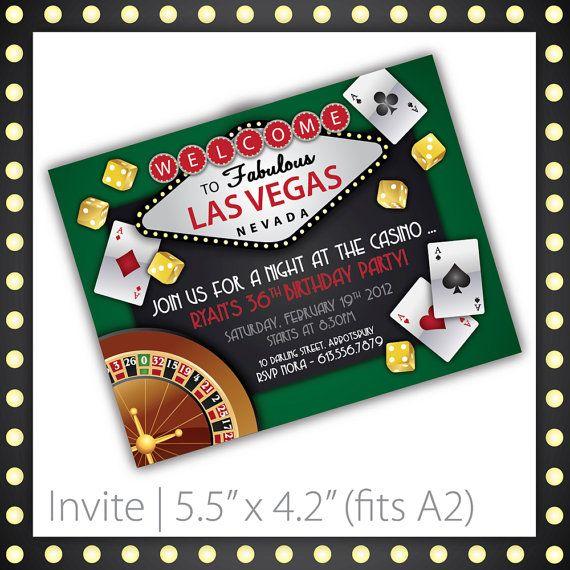 Casino Party Invitations Printable By Blackcherryprintable