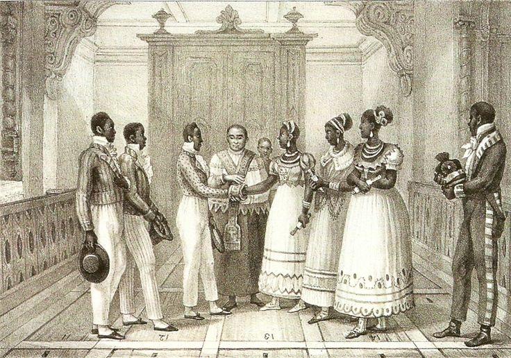 Casamento de negros de uma família rica - Debret