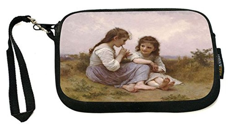 UKBK Louise Bourgeo Art A Childhood Idyll 1900 - Neoprene Clutch Wristlet with Safety Closure - Ideal case for Camera, Cell Phone, Gameboy, Passport,