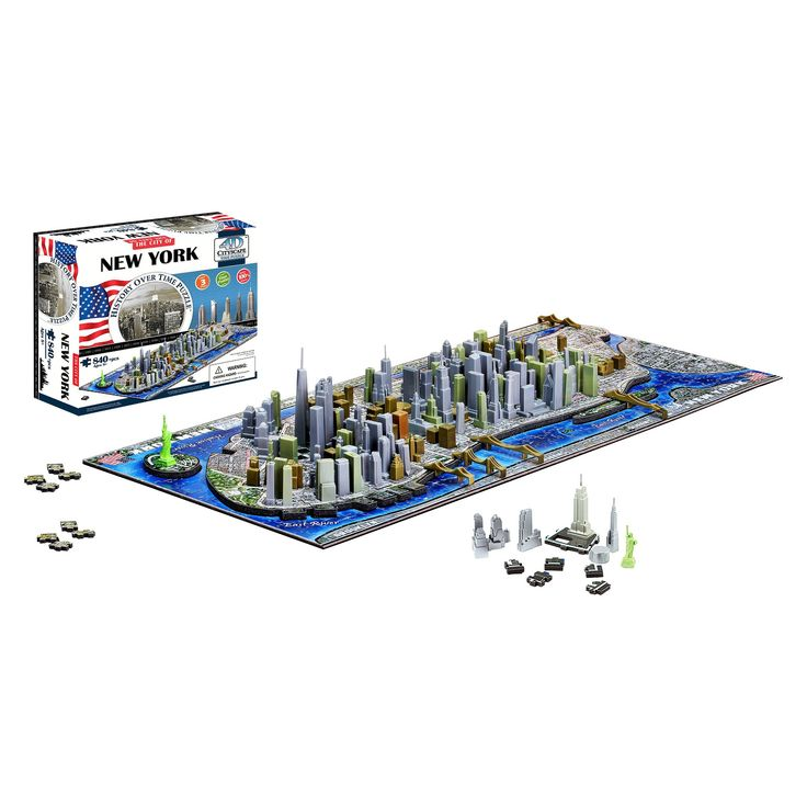 4D Cityscape New York City Skyline Time Puzzle 840pc
