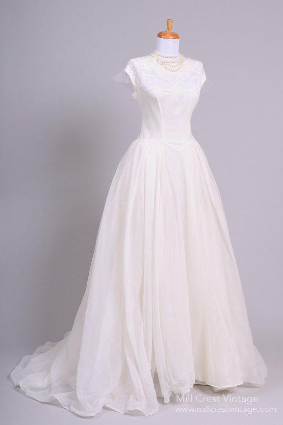 Beautiful Authentic Vintage 1950s Wedding Dresses