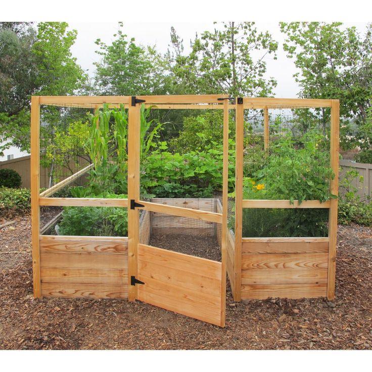 Gardens to Gro 8 x 8 ft. Deer-Proof Vegetable Garden Kit - Raised Bed & Container Gardening at Hayneedle