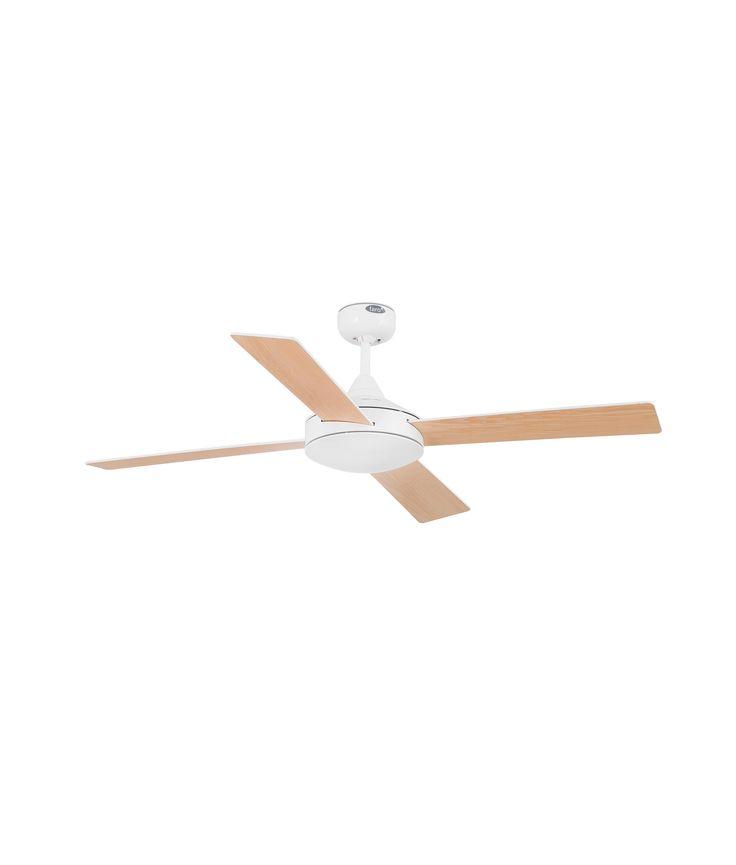 Ventilador de techo blanco mallorca ventilador de techo - Ventiladores de techo de madera ...