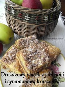 przepis na niesamowicie soczyste dyniowe ciasto drożdżowe nadziewane dżemem z dyni i jabłkami, oprószone pachnącą cynamonem kruszonką