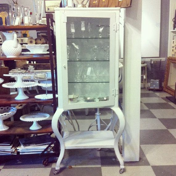 Vintage Industrial Dental Cabinet With Glass By CuriosityVintage, $895.00