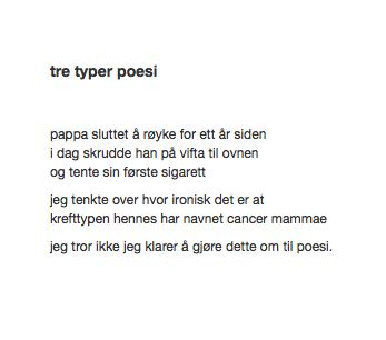 tre typer poesi Månedens TrafoTalent Mai 2013 #trafo #talentofthemonth #young #artists #norway