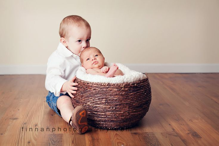 cute big brother/little sister photo